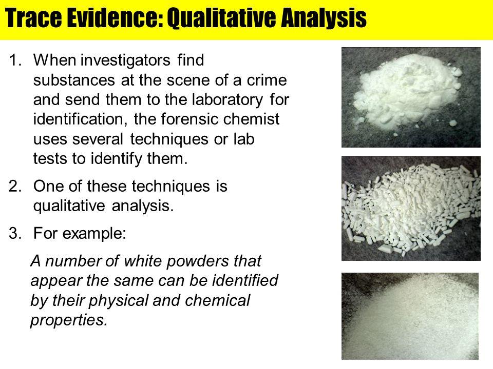Qualitative Analysis Microscopic Examination