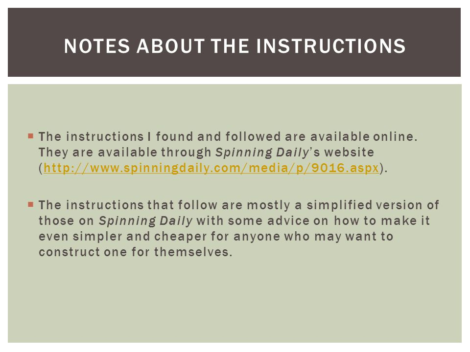  The instructions I found and followed are available online.