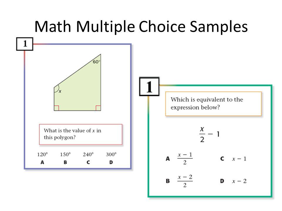Math Multiple Choice Samples