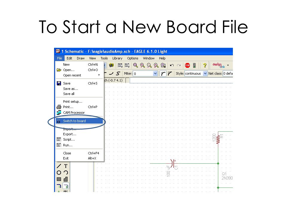 To Start a New Board File