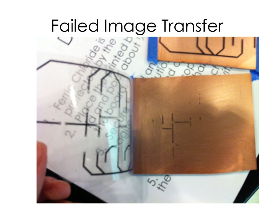 Failed Image Transfer