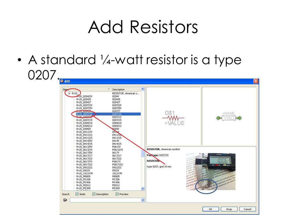 Add Resistors Vertically