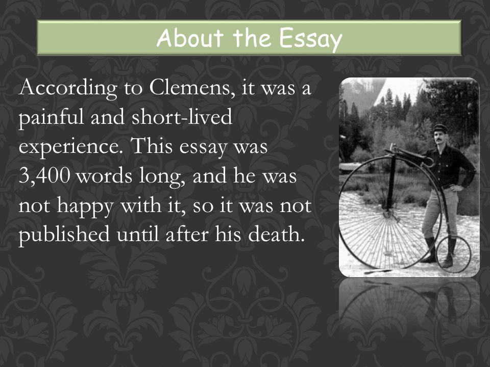 According to Clemens, it was a painful and short-lived experience.