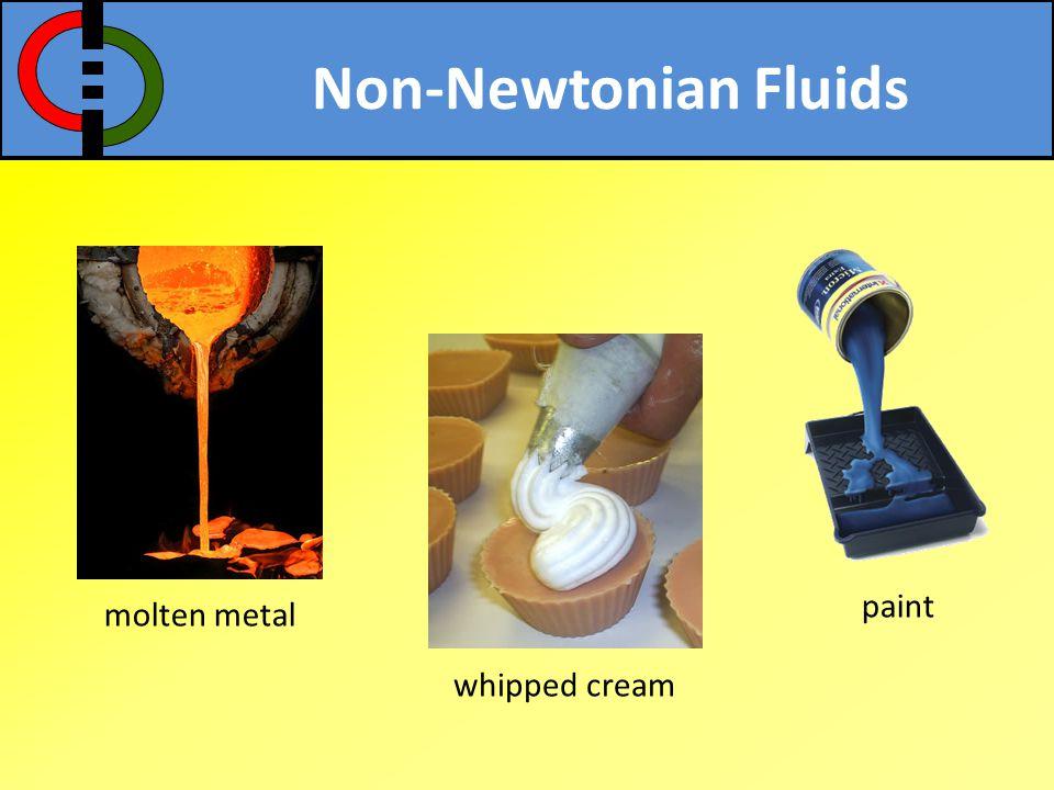 Non-Newtonian Fluids grease cake batter polymer melt