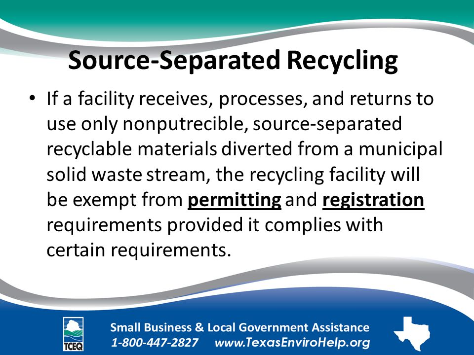 Source-Separated Recycling.