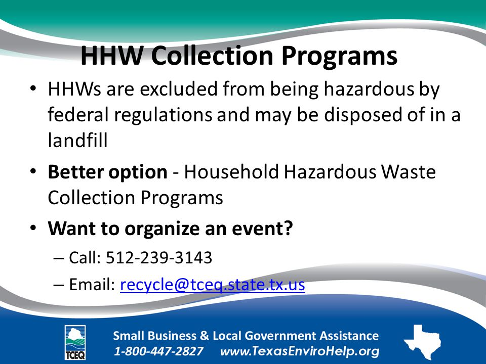 HHW Collection Programs.