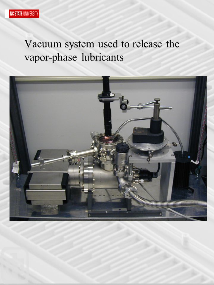 Vacuum system used to release the vapor-phase lubricants