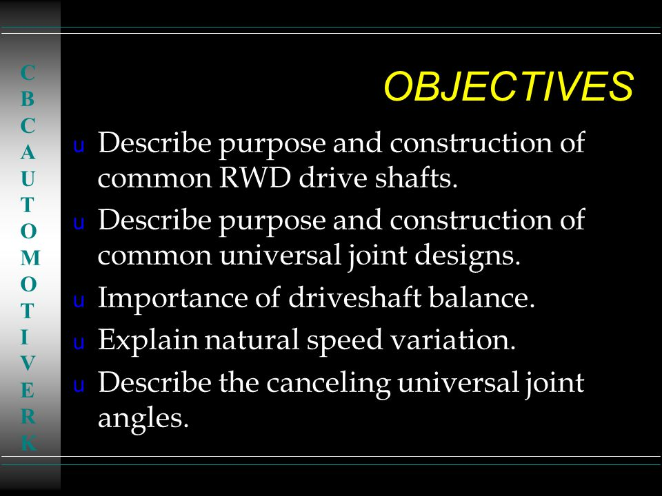 TYPES of U - JOINTS u Single universal joint retained by either an inside or outside snap ring.