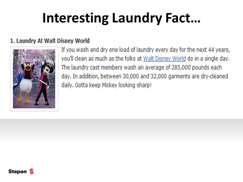 Interesting Laundry Fact…