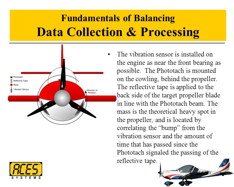 Fundamentals of Balancing Data Collection & Processing The vibration sensor is installed on the engine as near the front bearing as possible. The Phot