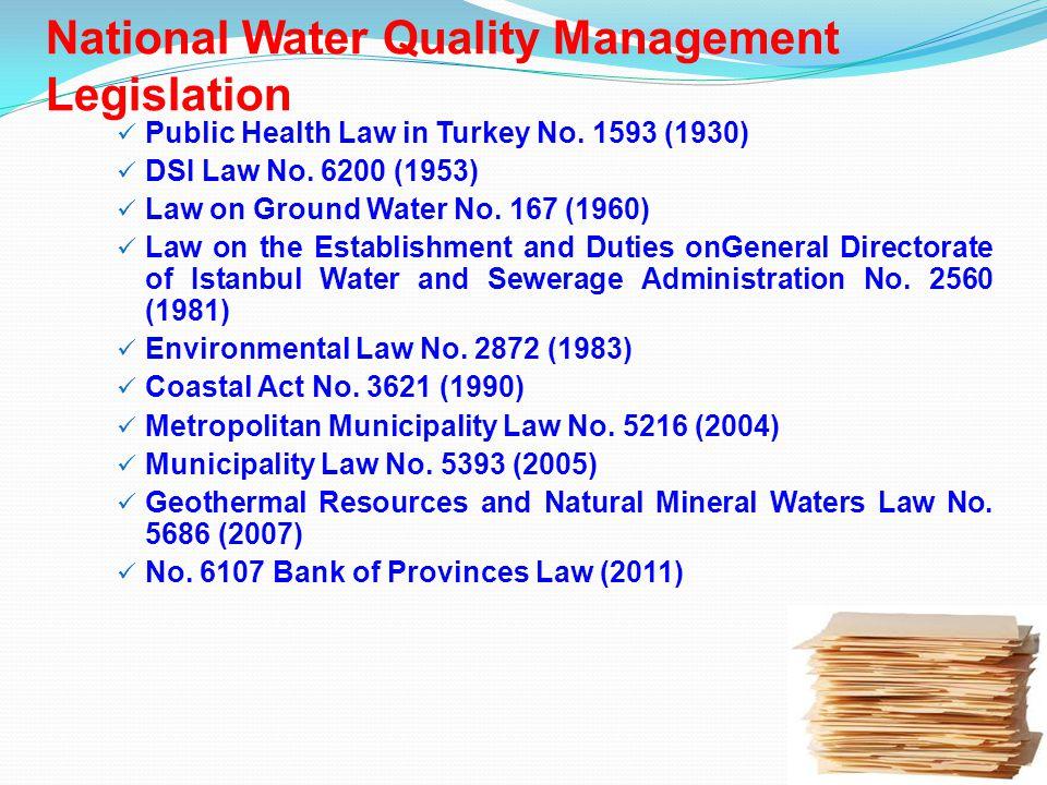 Public Health Law in Turkey No. 1593 (1930) DSI Law No.