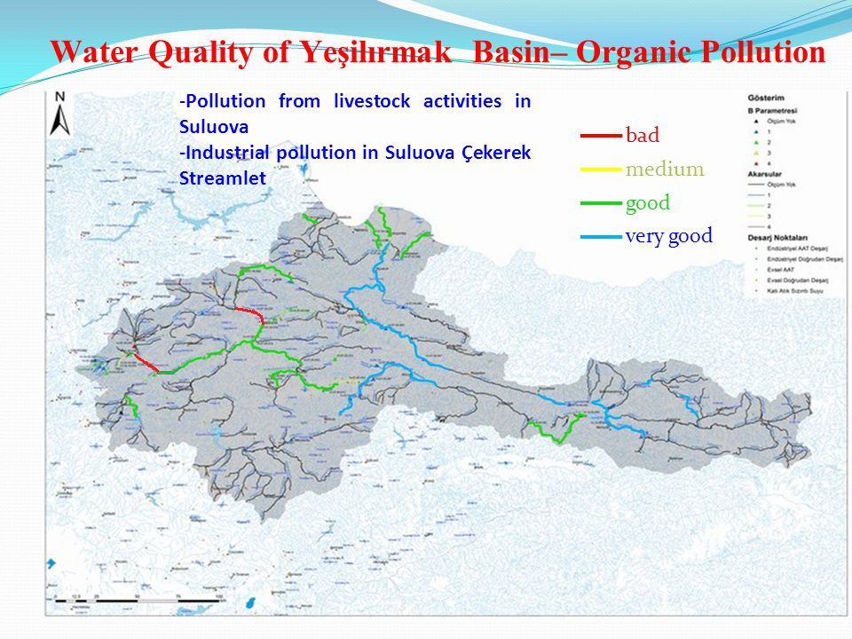 Water Quality of Büyük Manderes Basin Organic Pollution -Industrial and domestic wastewater, olive activities, geothermal waters