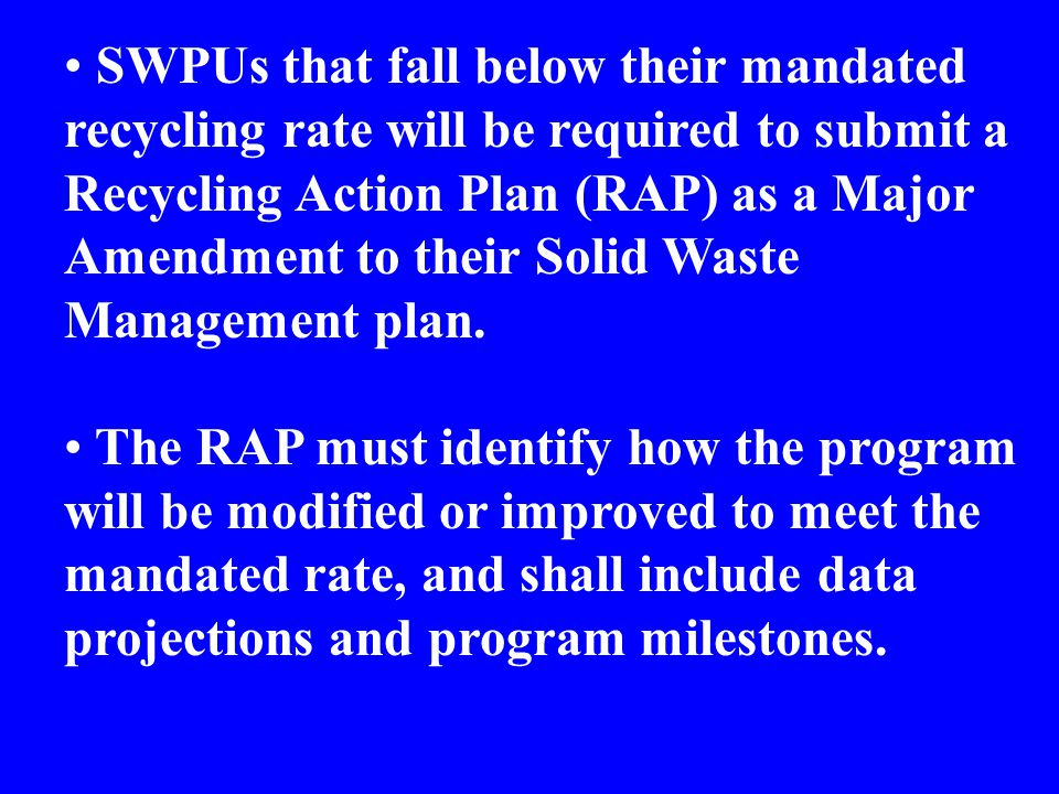 Question: What is included in the recycling calculation for measurement purposes.