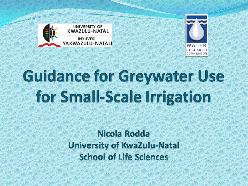 Greywater treatment: Mulch tower Buffalo City Municipality; UKZN pilot study