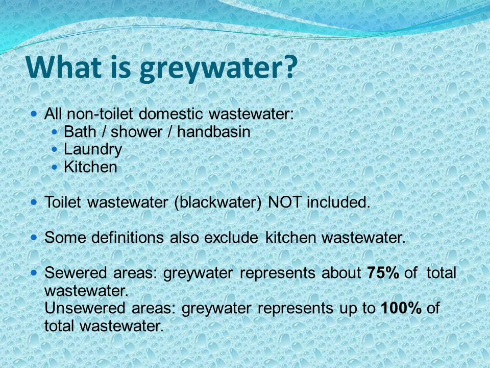 What is greywater.