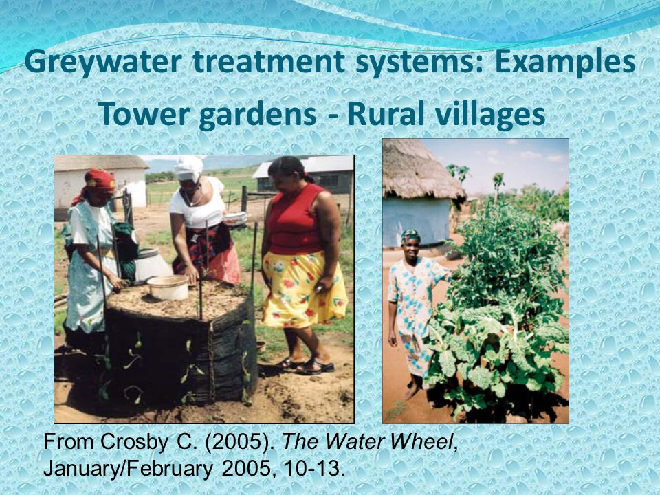 Tower gardens - Rural villages From Crosby C. (2005).