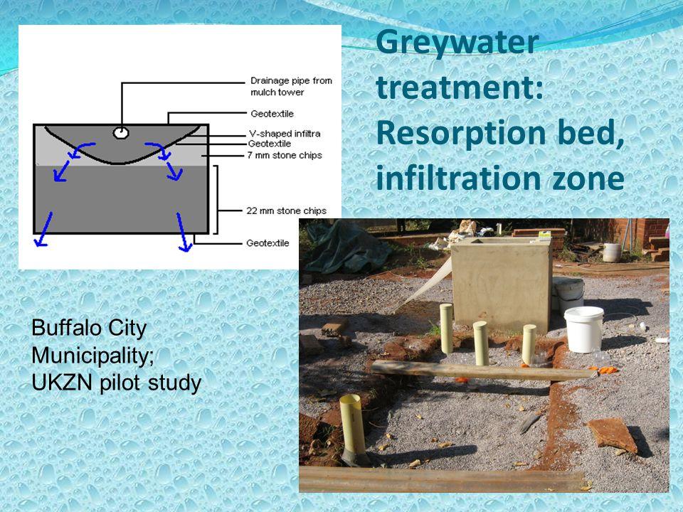 Greywater treatment: Resorption bed, infiltration zone Buffalo City Municipality; UKZN pilot study