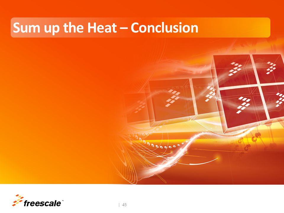 TM 46 Conclusions All current generation SOCs generate heat − Exacerbated by complex use cases (3D, video, CPU) Traditional methods of cooling include: − Active heat management  cost prohibitive and lower battery life − Passive heat management  typically copper.