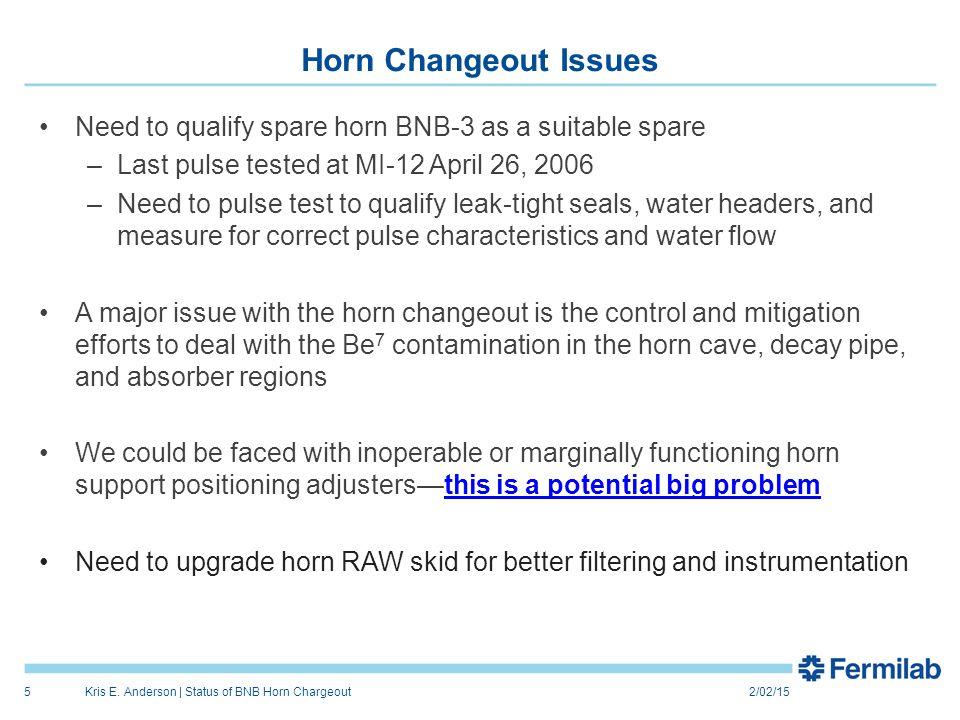 BNB-3 Spare Horn Test at MI-12 2/02/15Kris E.