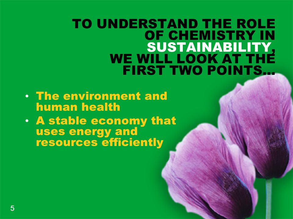 IN A SUSTAINABLE CIVILIZATION… Technologies used for production of needed goods are not harmful to the environment or to human health.