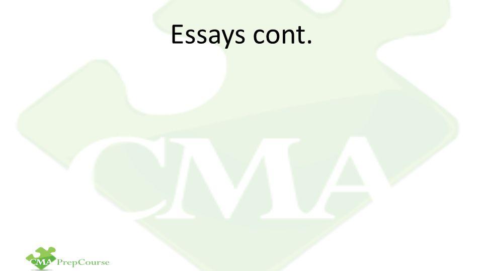 Essays cont.