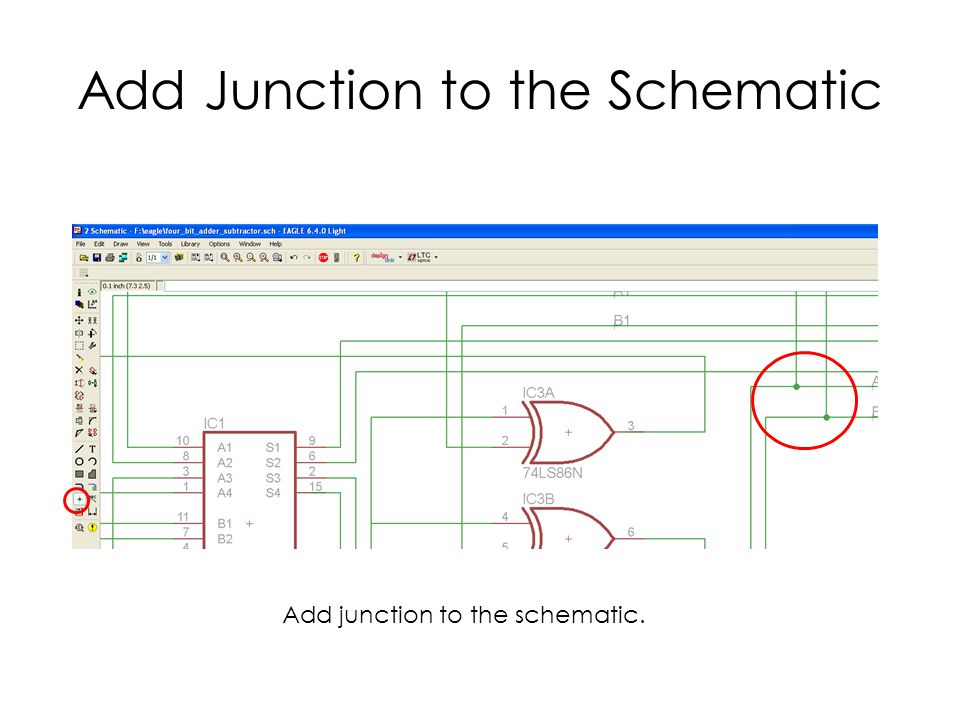 Add Junction to the Schematic Add junction to the schematic.