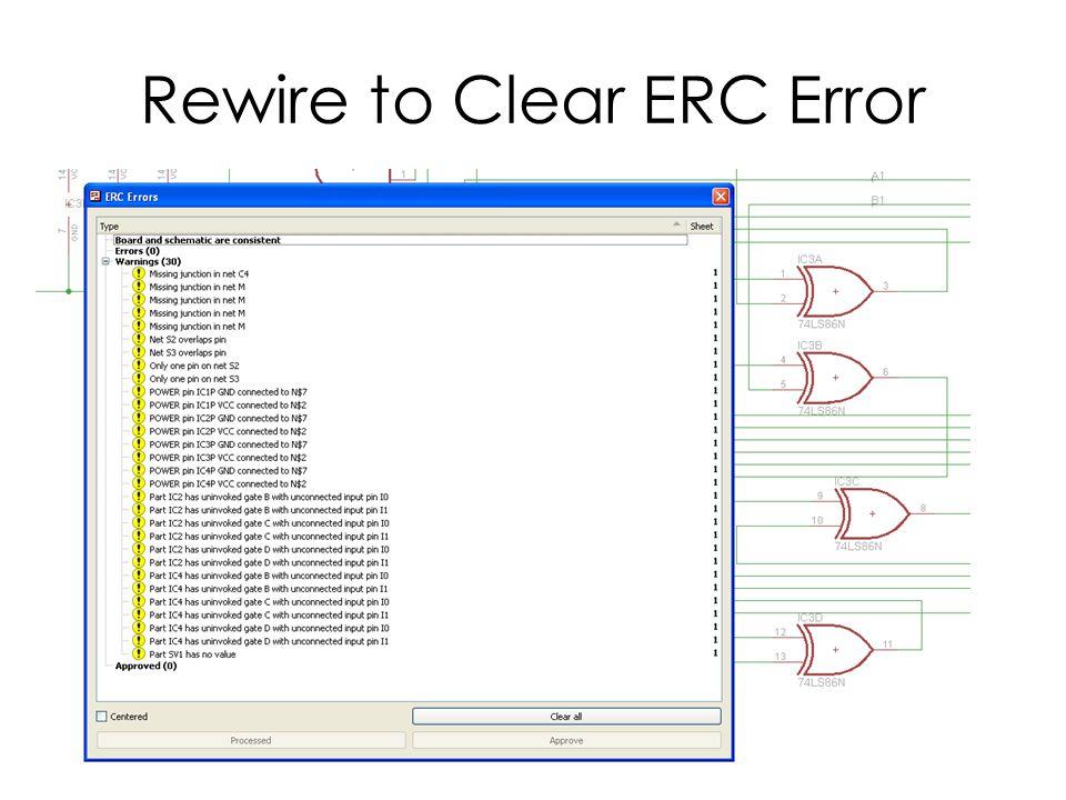 Rewire to Clear ERC Error