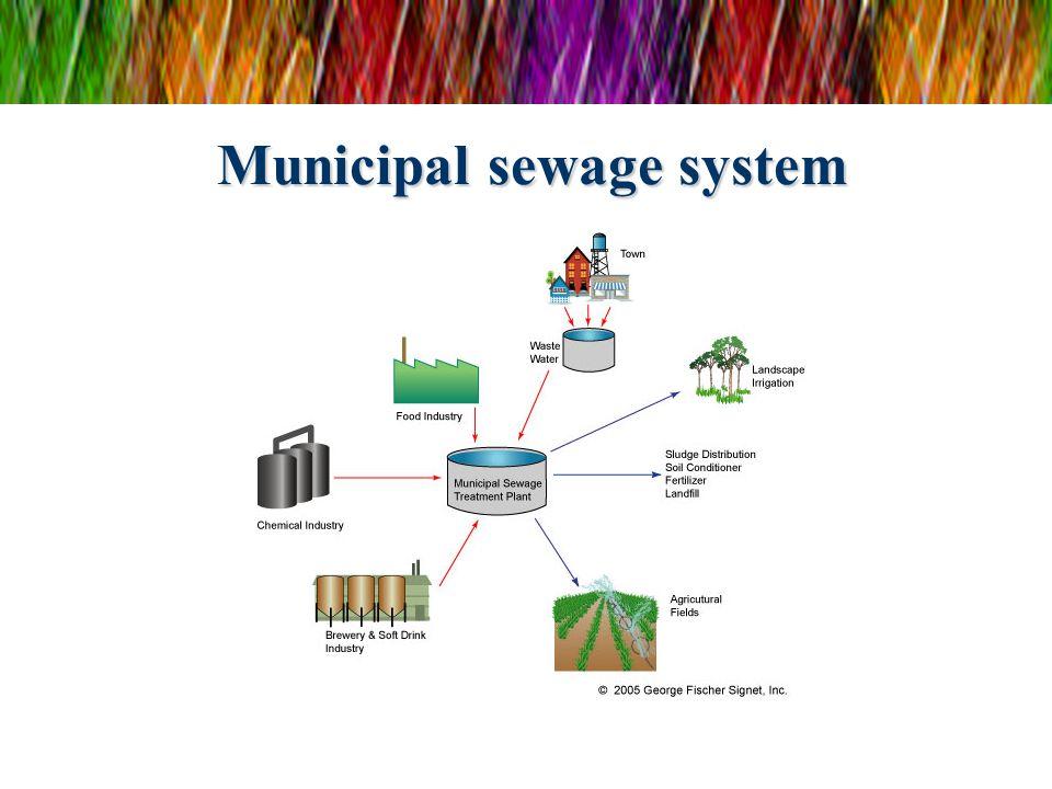 Municipal sewage system