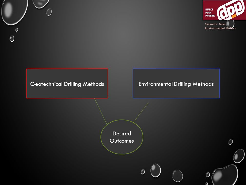 Geotechnical Drilling MethodsEnvironmental Drilling Methods Desired Outcomes Specialist Geo- Environmental Drillers