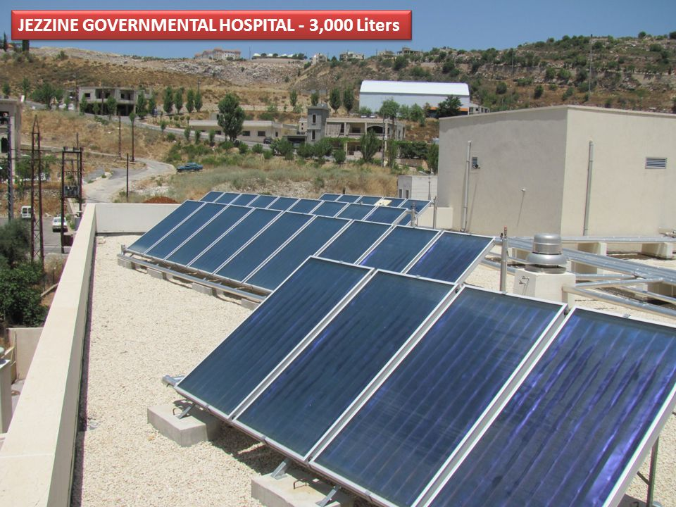 JEZZINE GOVERNMENTAL HOSPITAL - 3,000 Liters