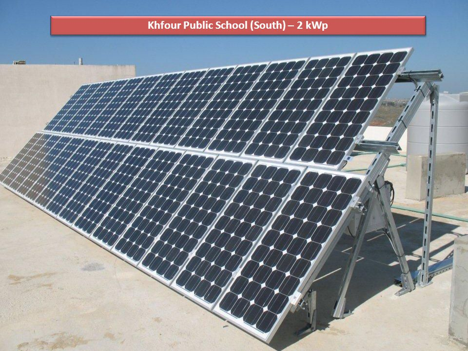 Khfour Public School (South) – 2 kWp