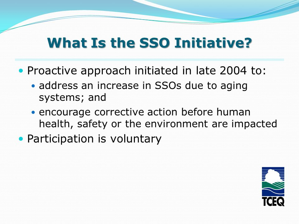What Is the SSO Initiative.
