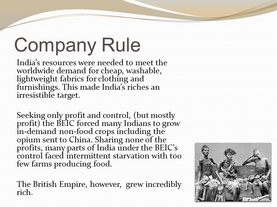 What was negative for the British.