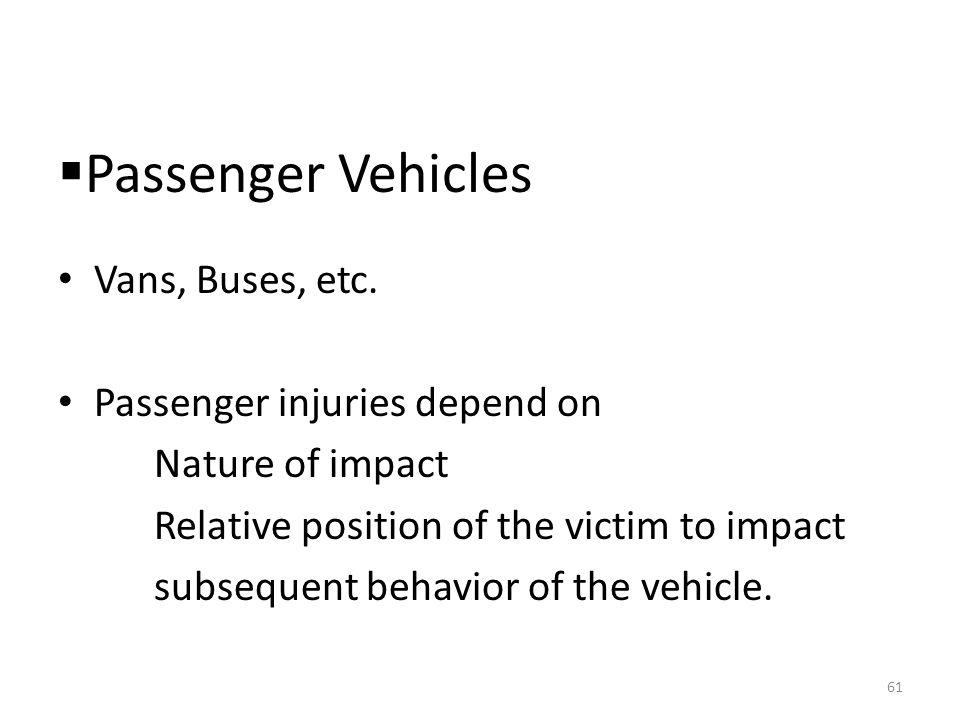  Passenger Vehicles Vans, Buses, etc.