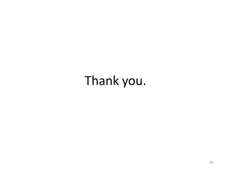 Thank you. 88
