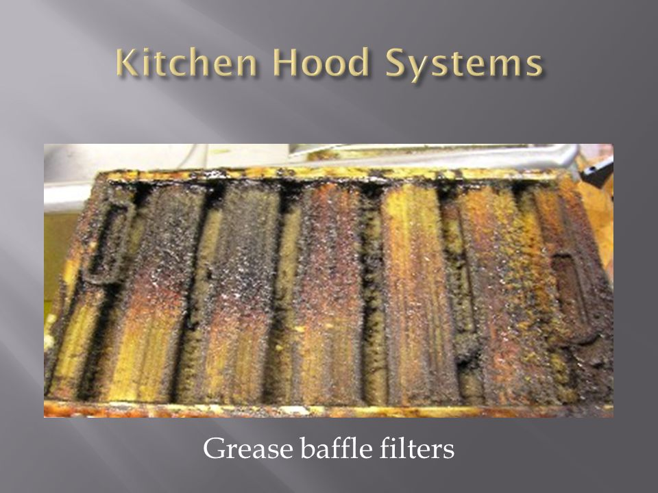 Grease baffle filters