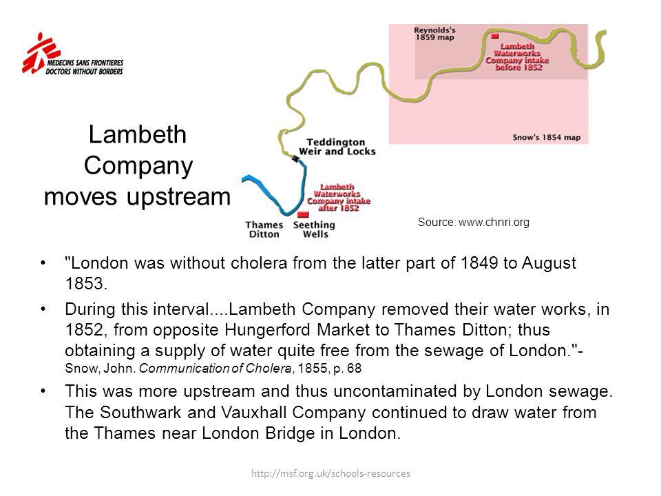 Lambeth Company moves upstream