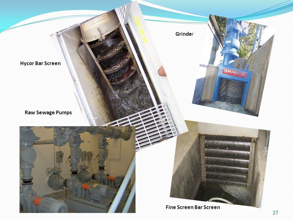 27 Hycor Bar Screen Raw Sewage Pumps Grinde r Fine Screen Bar Screen