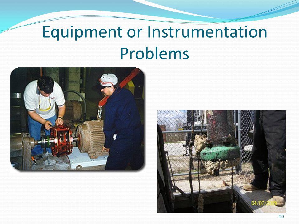 Equipment or Instrumentation Problems 40