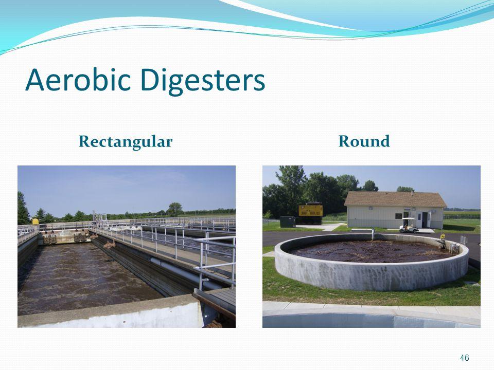Aerobic Digesters Rectangular Round 46