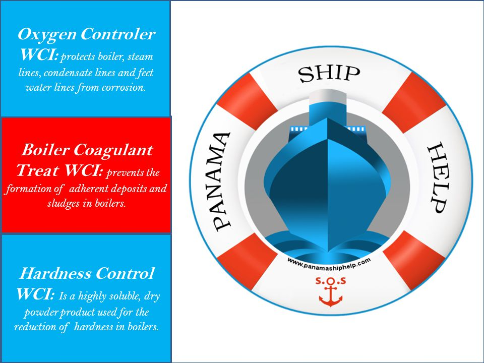 Hardness Control WCI: Is a highly soluble, dry powder product used for the reduction of hardness in boilers. Boiler Coagulant Treat WCI: prevents the