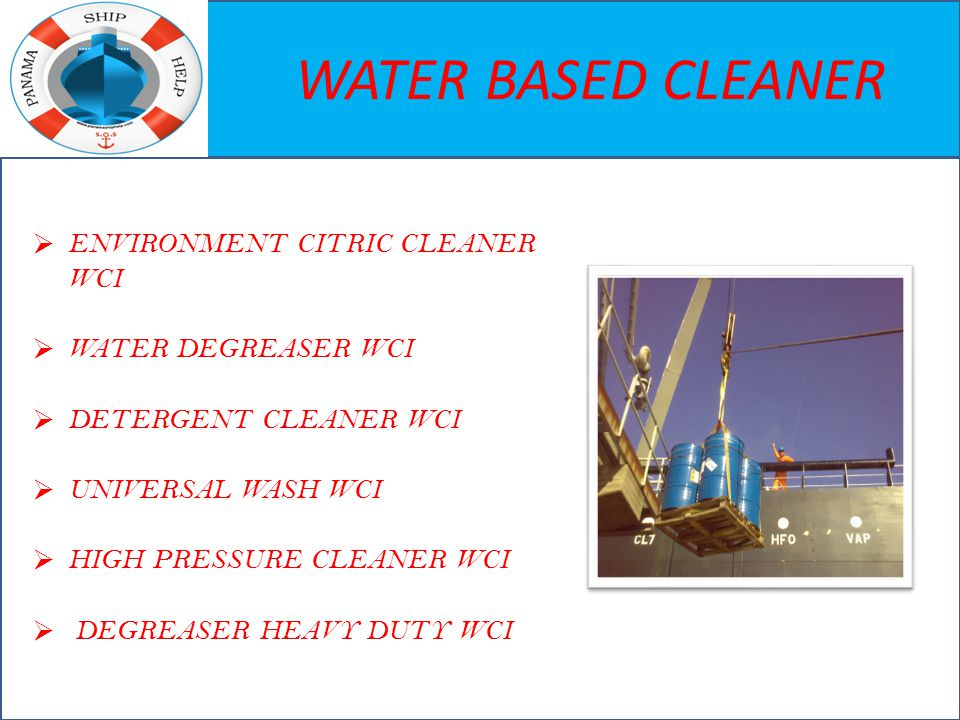 WATER BASED CLEANER  ENVIRONMENT CITRIC CLEANER WCI  WATER DEGREASER WCI  DETERGENT CLEANER WCI  UNIVERSAL WASH WCI  HIGH PRESSURE CLEANER WCI 