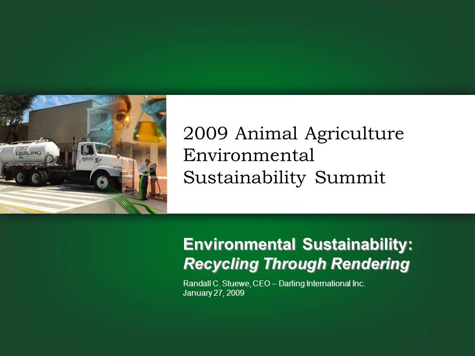Environmental Sustainability: Recycling Through Rendering Randall C.