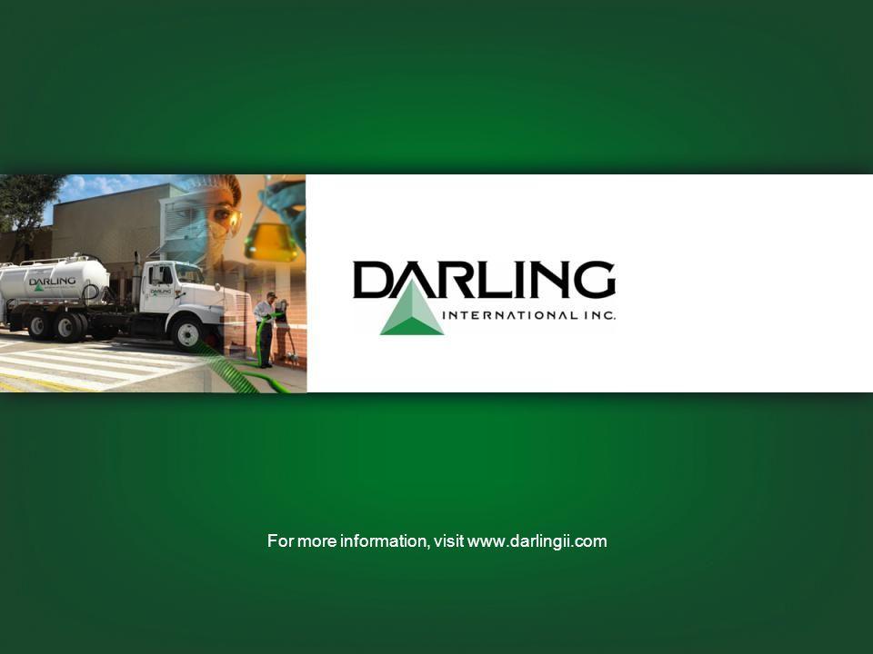 For more information, visit www.darlingii.com