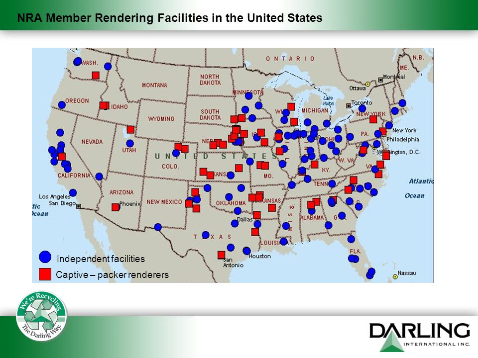 NRA Member Rendering Facilities in the United States Independent facilities Captive – packer renderers