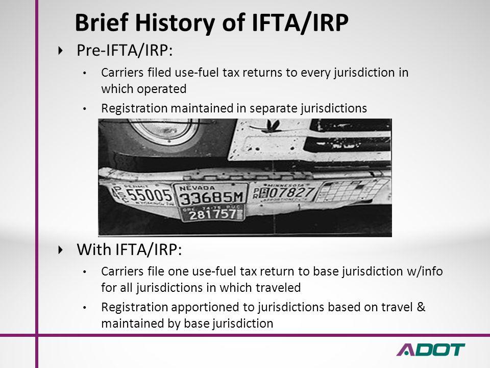 Arizona Department of Transportation IFTA RECORD KEEPING REQUIRMENTS
