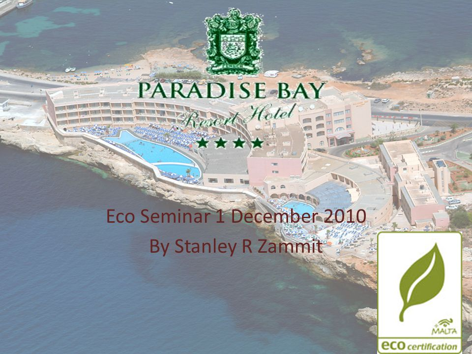 Eco Paradise Rainwater catchment reservoir of 1.6 million litters, this water is treated and used for washing.