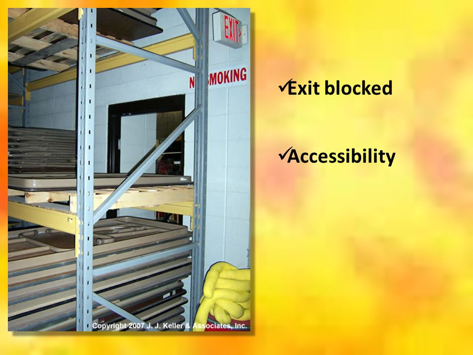 Exit blocked Accessibility