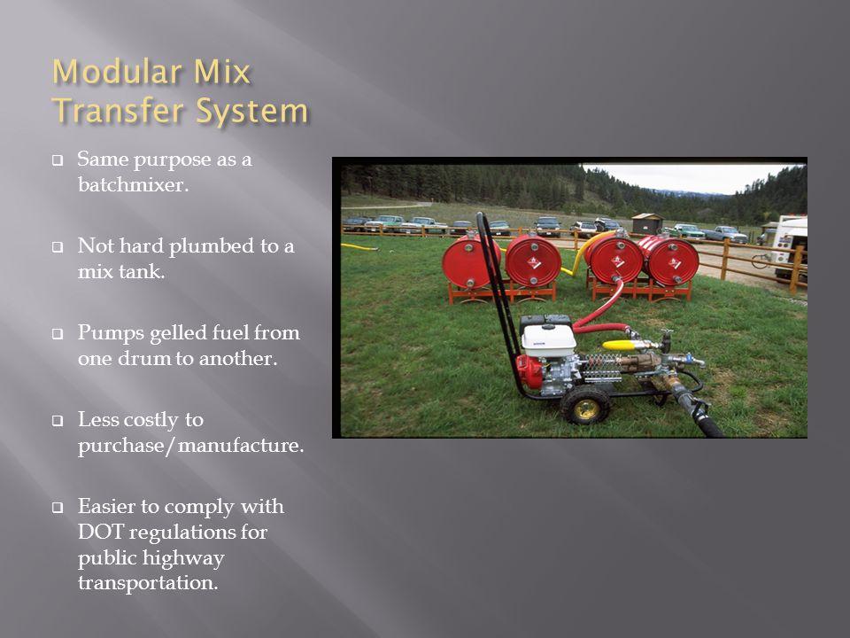 Modular Mix Transfer System  Same purpose as a batchmixer.