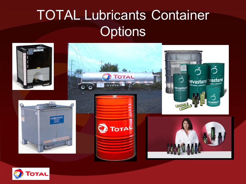 TOTAL Lubricants Container Options
